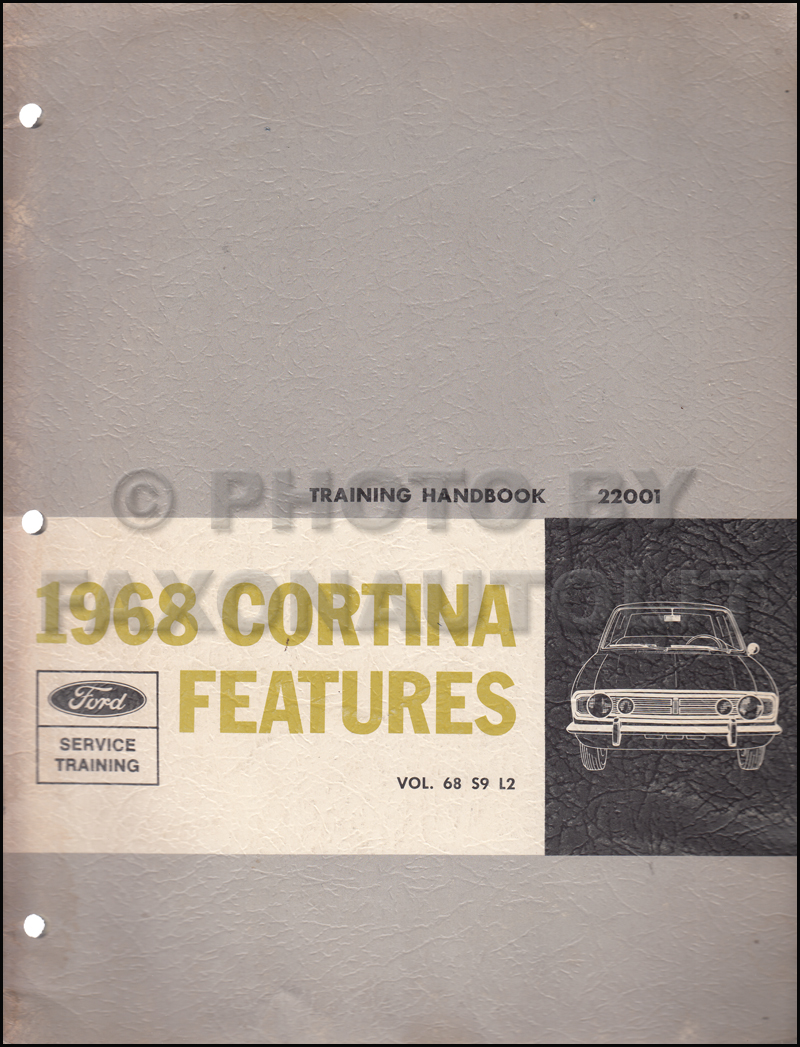 1968 Ford Cortina Features Service Training Manual Original