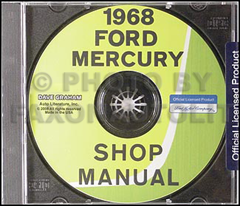 1968 Ford and Mercury Big Car CD-ROM Shop Manual