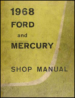 1968 Ford Galaxie & Mercury Big Car Original Repair Manual