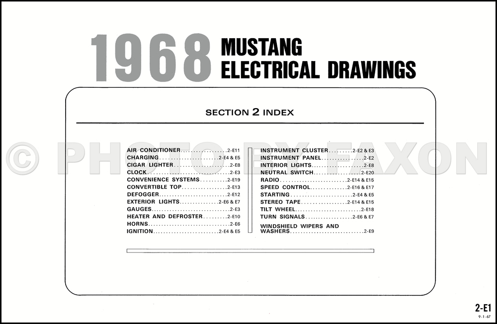 1968FordMustangOWD TOC 68 mustang wiring diagram reading online wiring diagram guide \u2022