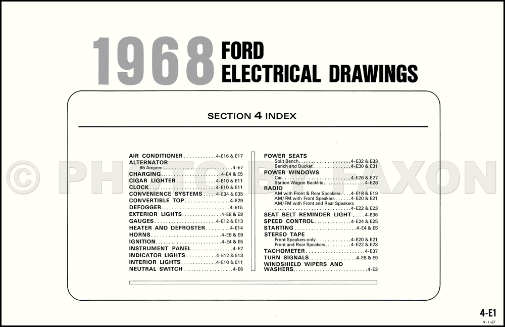 1968 ford galaxie, custom, and ltd wiring diagram original 1969 Ford Galaxie 500
