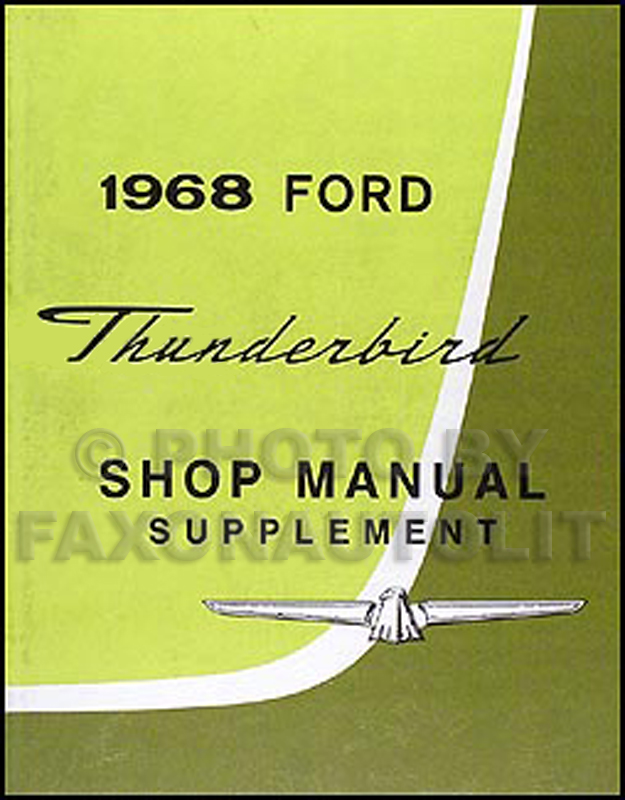 1968 Ford Thunderbird Shop Manual Reprint Supplement
