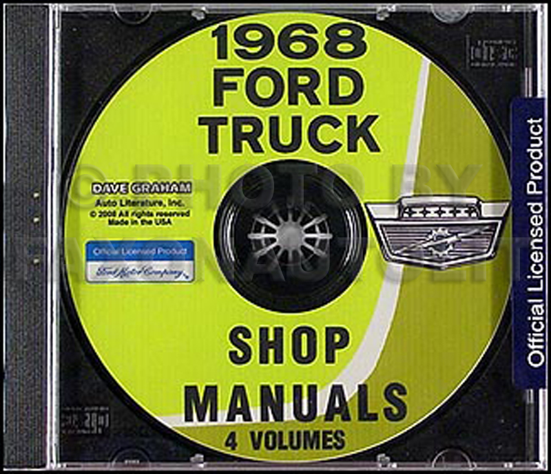 1968 Ford Truck Shop Manual Set on CD-ROM