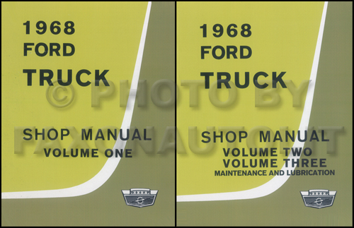 1968 Ford Pickup  U0026 Truck Repair Shop Manual Original 3