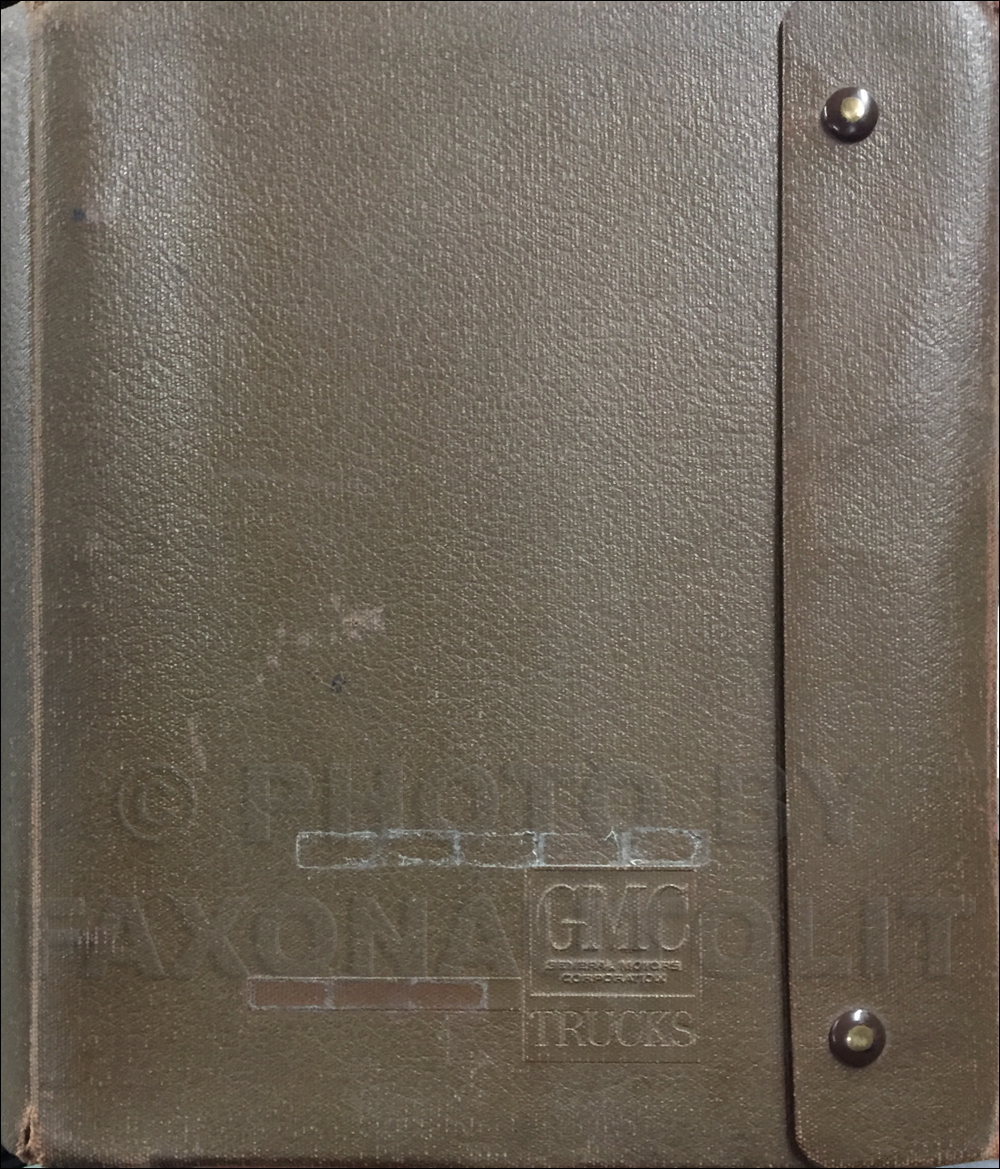1968 GMC Data Book Original