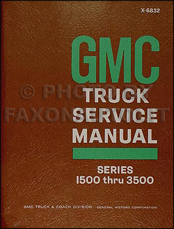 1968 GMC 1500-3500 Truck & Van Shop Manual Original