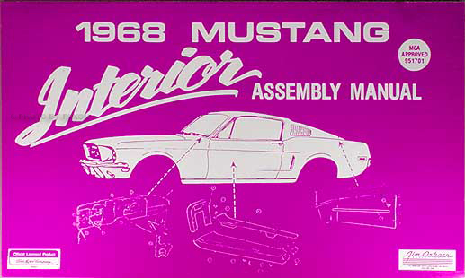 1968 Ford Mustang Interior Assembly Manual Reprint
