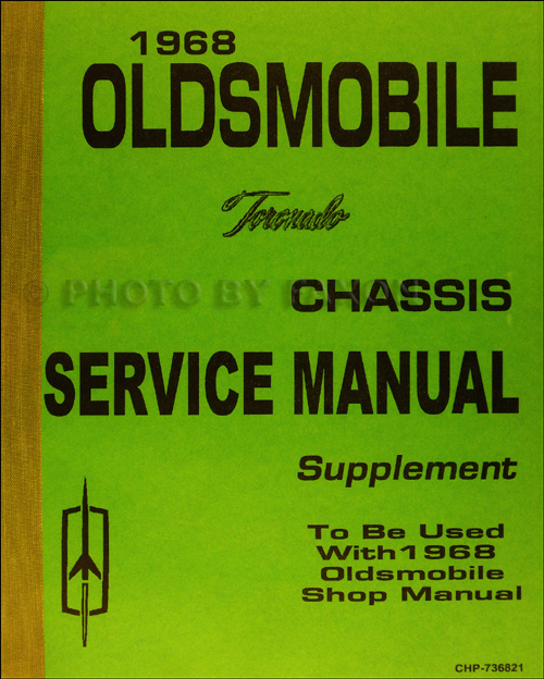 1968 Oldsmobile Toronado Service Manual Supplement Reprint