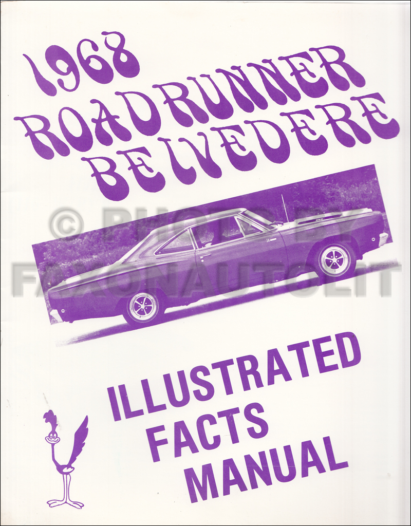 1968 Belvedere Satellite Road Runner And Gtx Wiring Diagram Manual
