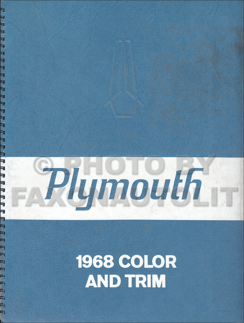 1968 Plymouth Color & Upholstery Dealer Album Original Small Size