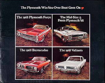 1968 Plymouth Original Sales Catalog -- All Models