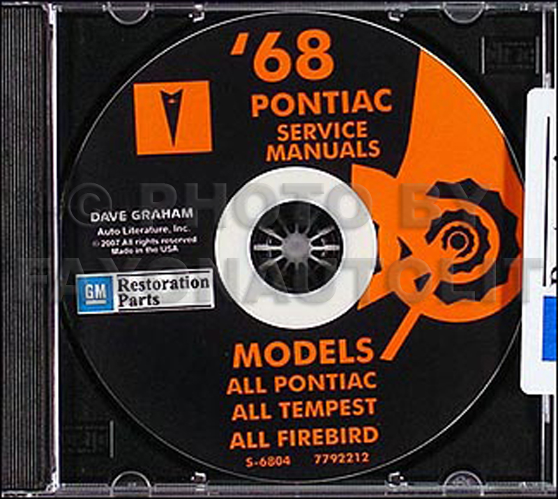 1968 Pontiac CD-ROM Shop & Body Manuals All Models