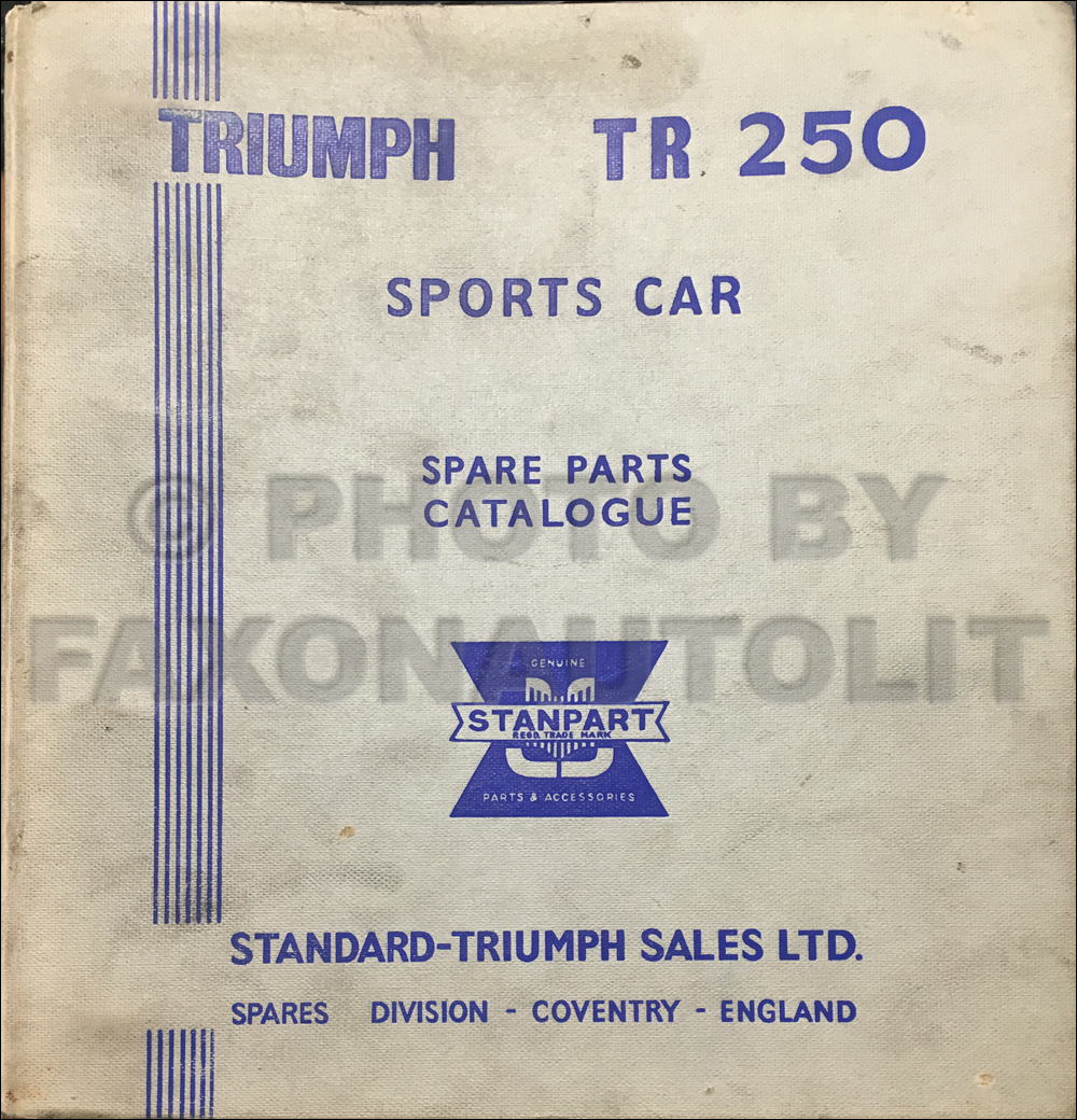 1968 Triumph Tr250 Owners Manual Reprint Wiring Diagram Parts Book Original