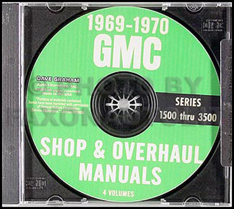1969-1970 GMC Truck 1500-3500 Repair Shop Manual CD Pickup Jimmy Suburban Van