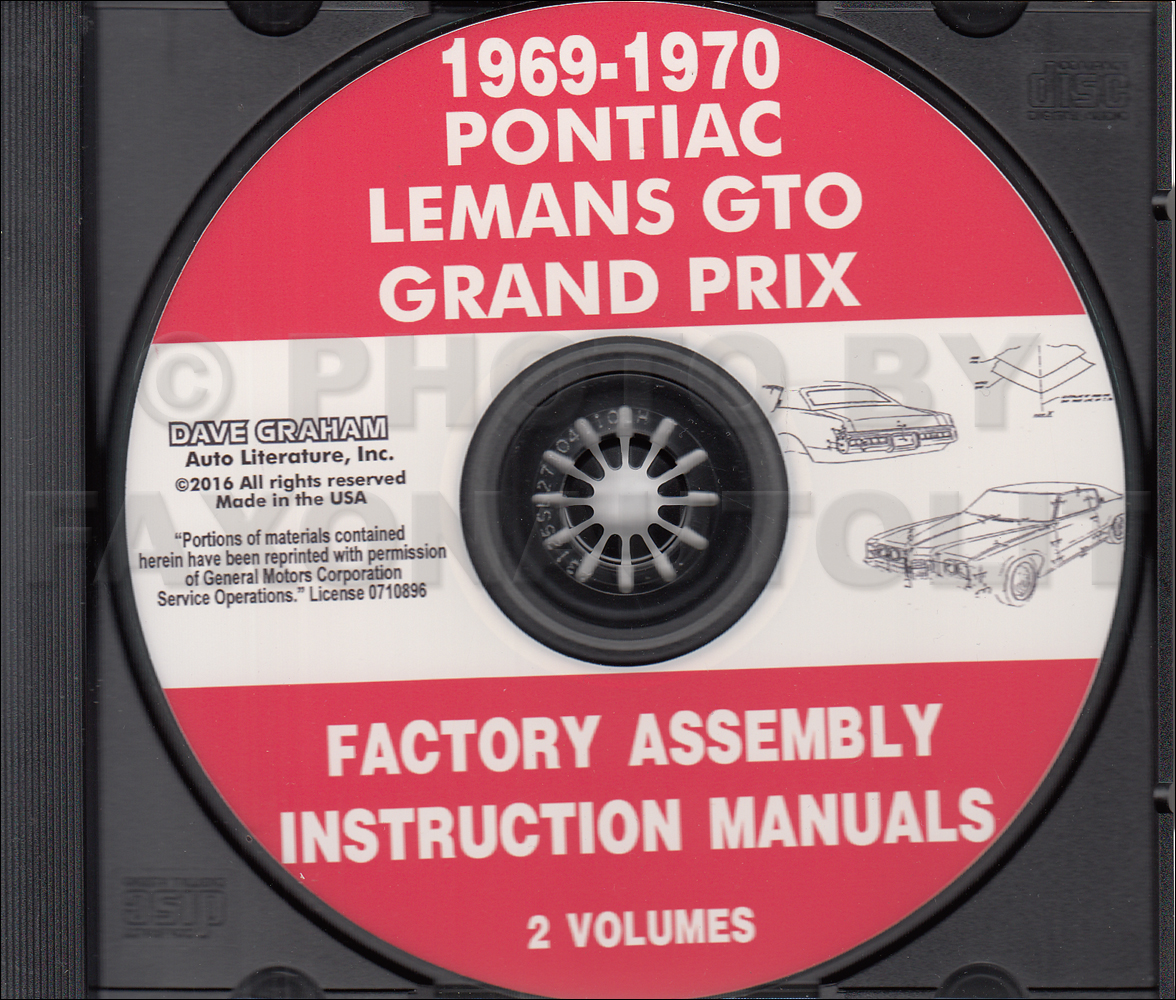 CD-ROM 1969-1970 Pontiac Assembly Manual GTO Grand Prix LeMans Tempest