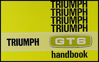 1969-1970 Triumph GT6 Owner's Manual Reprint