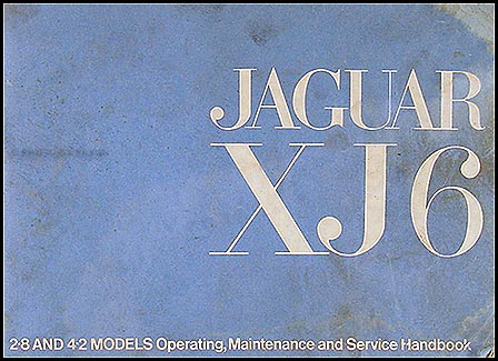 1969-1971 Jaguar XJ6 Owner's Manual Original