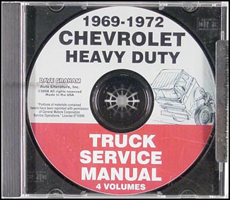1969-1972 Chevrolet 70-80 Heavy Truck Service Manual CD