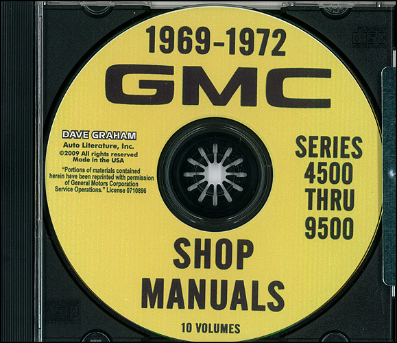 1969-1972 GMC Truck 4500-9500 Repair Shop Manuals on CD-ROM