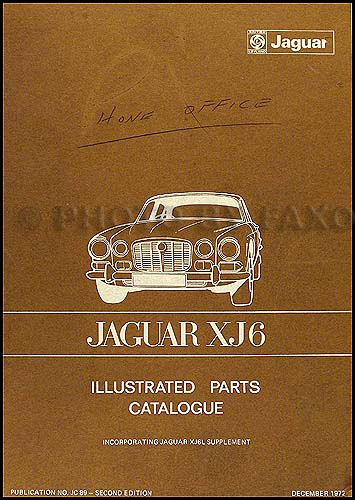 1969-1973 Jaguar XJ6 Parts Book Original