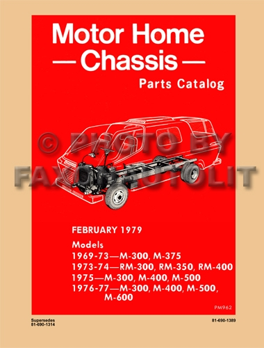 1969-1977 Dodge Motor Home Chassis Parts Catalog Reprint