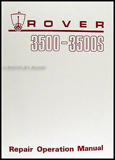 1969-1977 Rover 3500 & 3500S Repair Manual Reprint