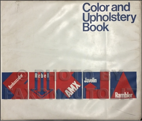 1969 AMC Color & Upholstery Dealer Album Original