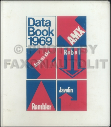 1969 AMC Data Book Original