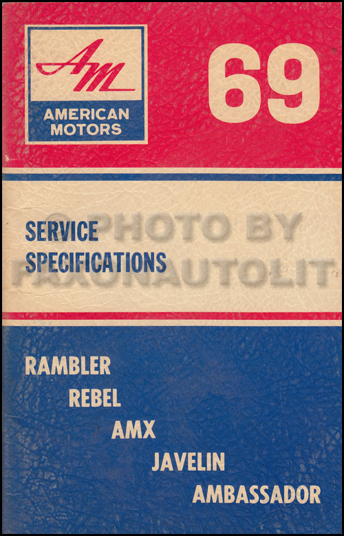 1969 AMC Service Specifications Manual