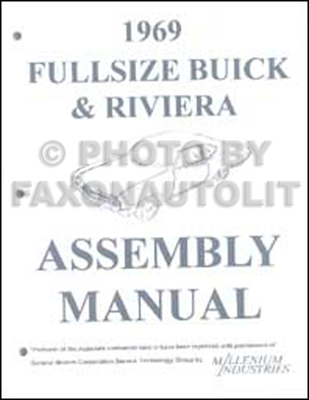 1969 Buick Assembly Manual Reprint Riviera LeSabre Electra Wildcat