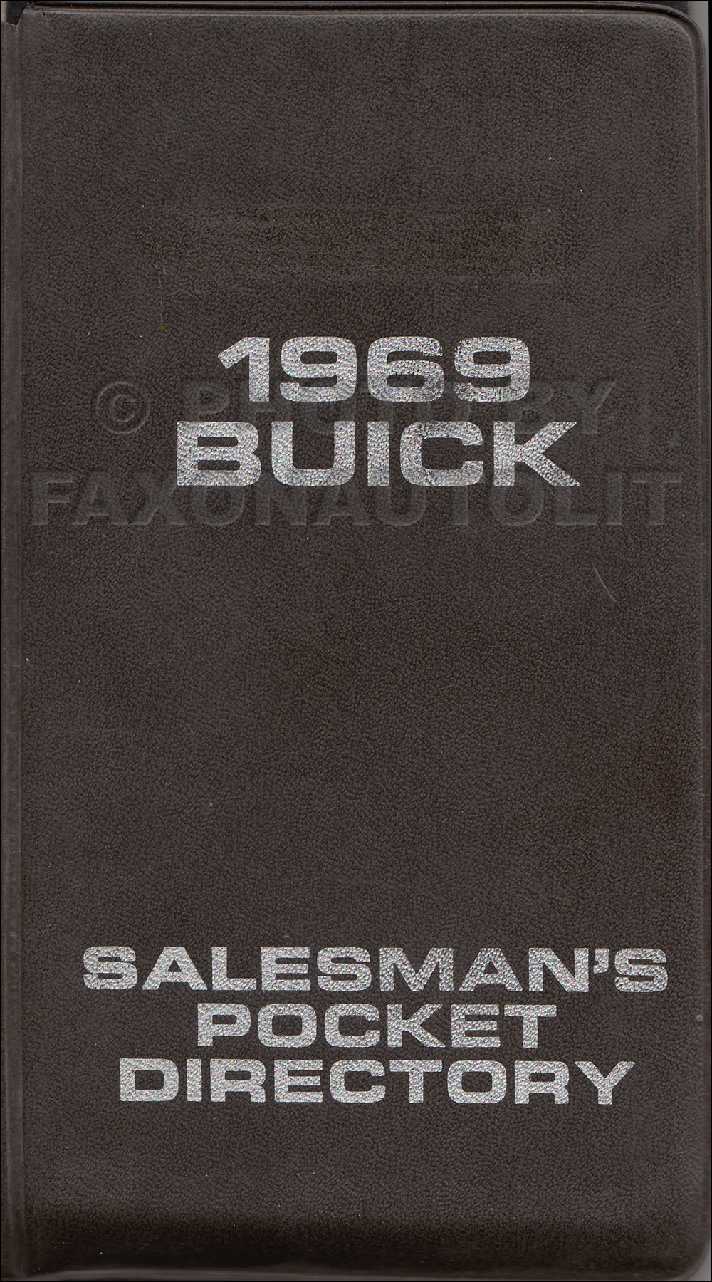 1969 Buick Salesman's Pocket Directory Original