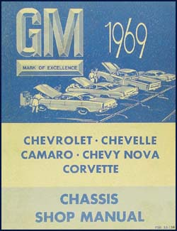 1968 Chevy CANADIAN Shop Manual Original -- Impala, Chevelle, El Camino, Nova, Camaro & Corvette