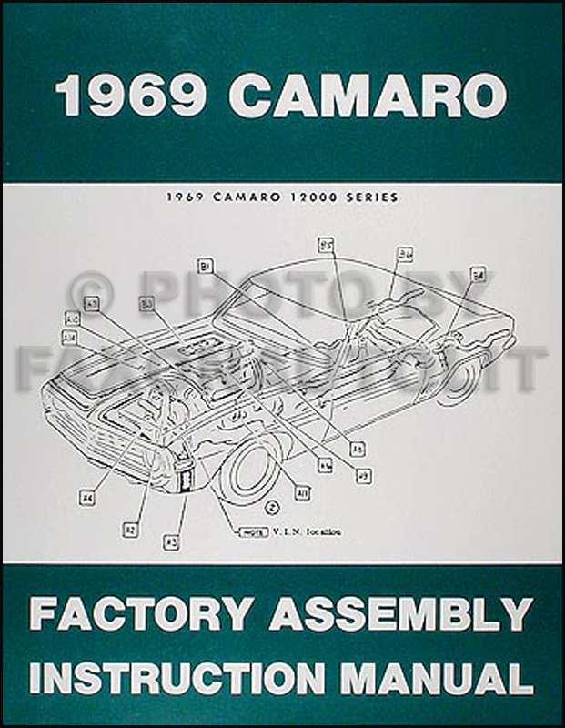 1969 Camaro & RS, SS, Z28 Factory Assembly Manual Reprint