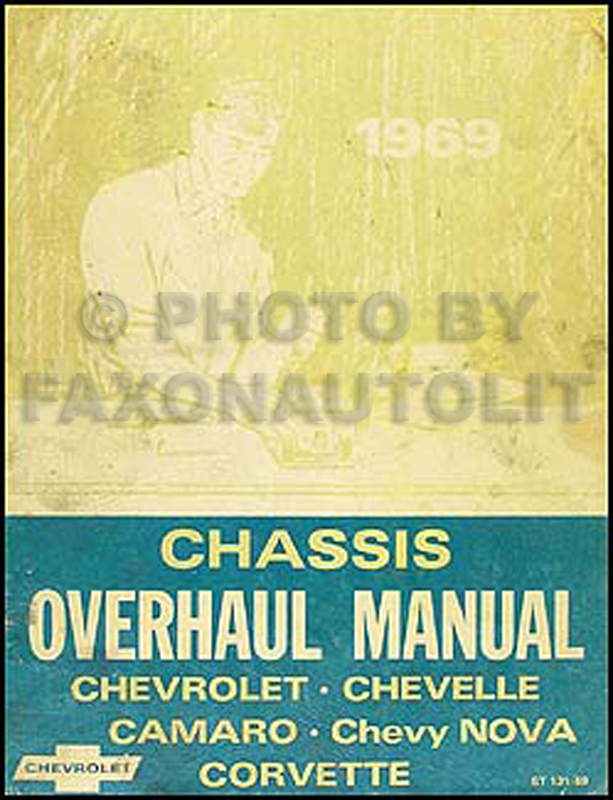 1969 Chevy Car Overhaul Manual Original