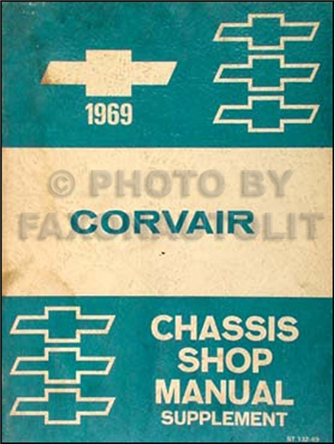 1969 Chevrolet Corvair Car Shop Manual Original Supplement