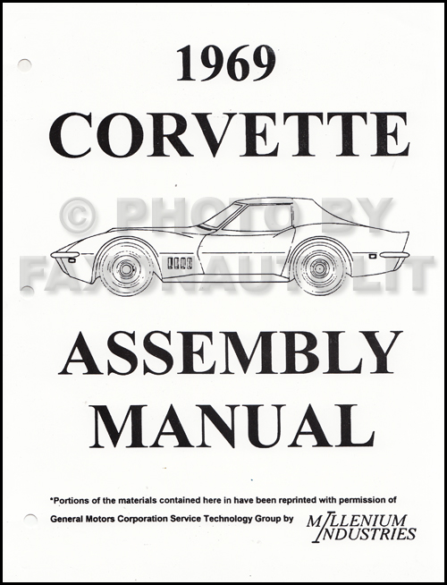 1969 Corvette Factory Assembly Manual Reprint