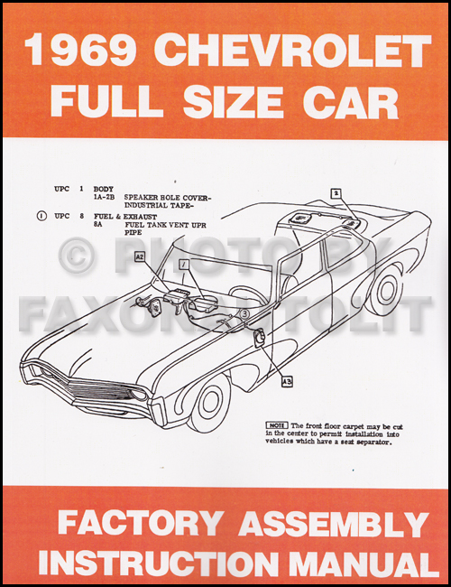 1969 Chevy Full-Sized Car Assembly Manual Reprint, Bound