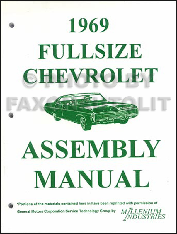 1969 Chevy Wiring Diagram Reprint Impala Ss Caprice Bel