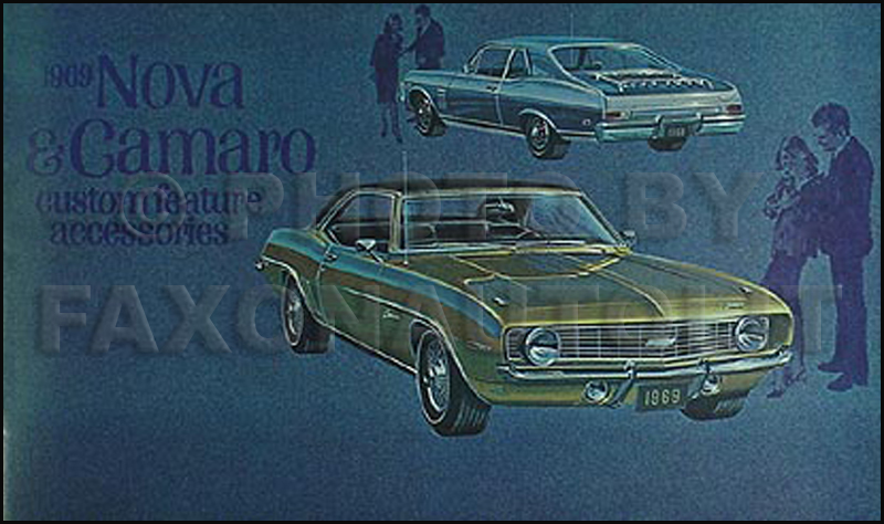1969 Camaro and Nova Color Accessory Catalog Reprint with SS RS Z28