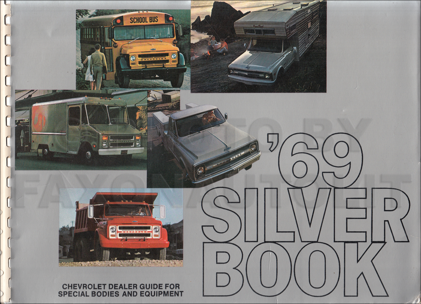 1969 Chevrolet Truck Silver Book Special Equipment Dealer Album