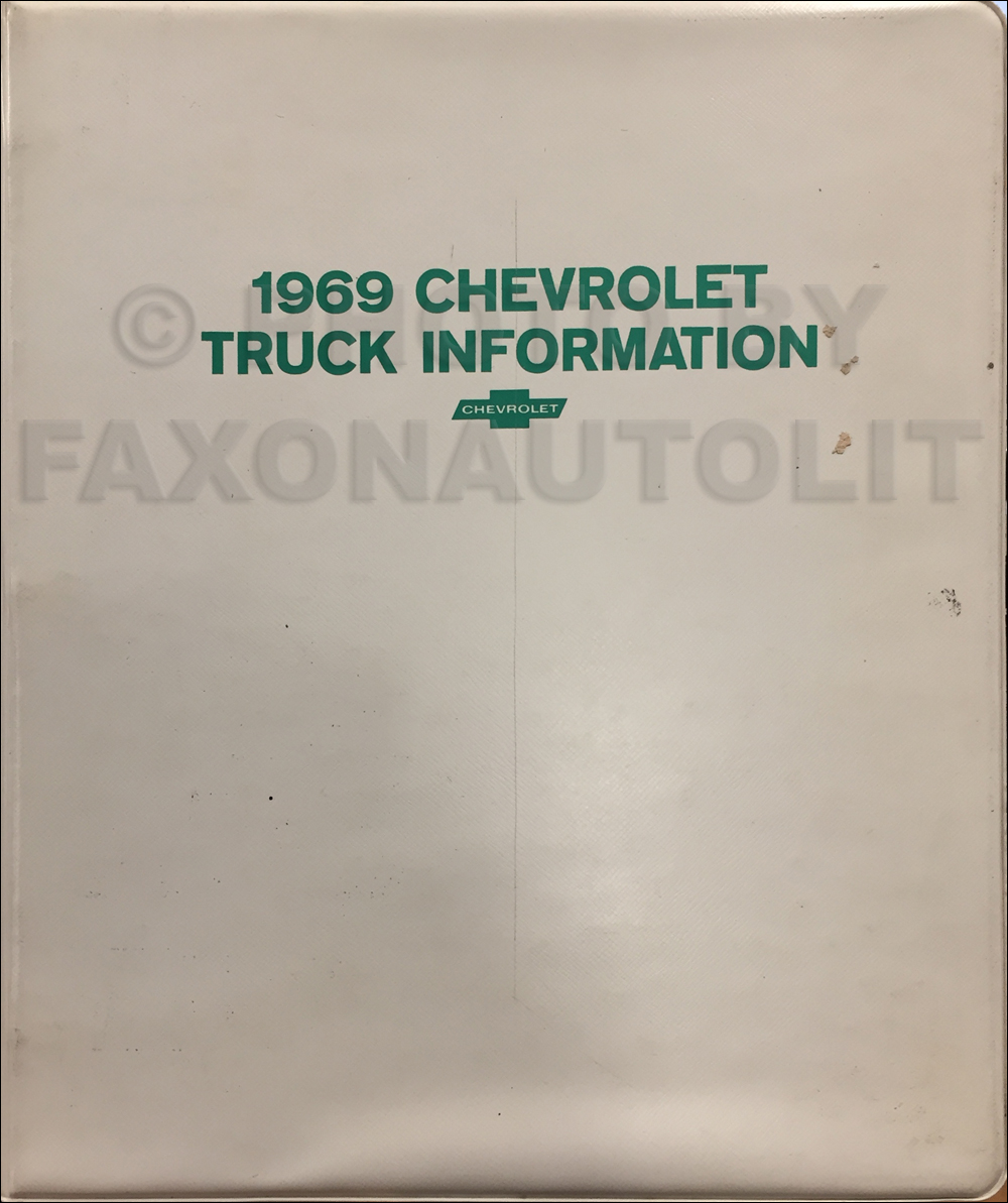 1969 Chevrolet Truck Sales Brochure Set in a Dealer Album