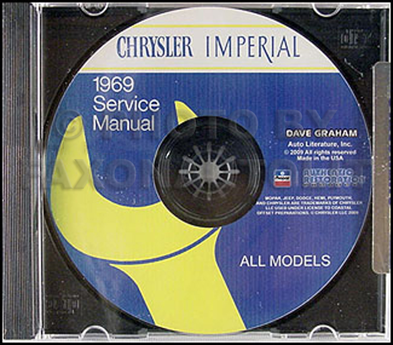 1969 Chrysler CD-ROM Shop Manual Imperial New Yorker 300 Newport