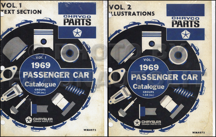 1969 Chryco Parts Book Reprint CANADIAN 2 Volume Set