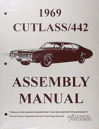1969 Olds Assembly Manual Reprint 442, Cutlass, S, & Supreme