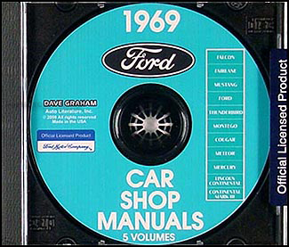 1969 Ford Car Shop Manuals on CD-ROM