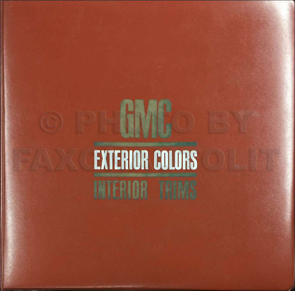 1969 GMC Color & Upholstery Dealer Album Original