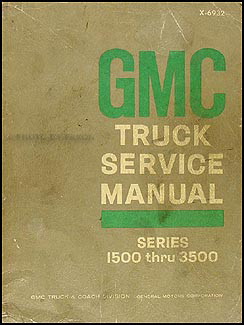 1969 GMC 1500-3500 Repair Shop Manual Original Pickup, Jimmy, Suburban, FC