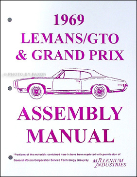 1969 Pontiac LeMans GTO Tempest Grand Prix Judge Assembly Manual