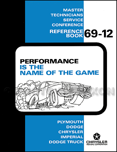 1969 Dodge Plymouth Performance Training Manual Reprint