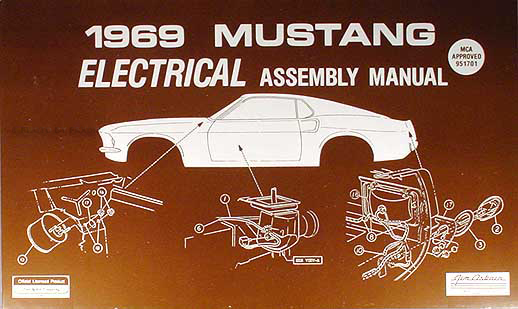 1969Mustangream 1969 ford mustang shelby repair shop manual supplement reprint gt350